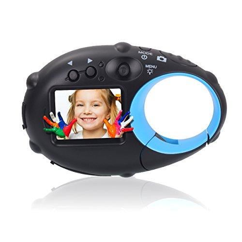 Tyhbelle Mini Kids Camera,Wiederaufladbar Digital Kamera für Kinder Tragbar Kinderkamera mit USB Kabel (Schwarz-blau)