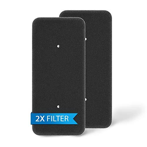 Juego de 2 filtros de esponja de repuesto para Candy Hoover 40006731, 275 x 125 mm, para secadora de condensador VHC 970AT-84/ VTH 980NA1TX/ VTH 980NA2T