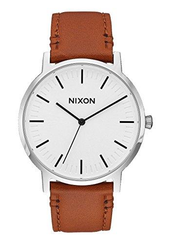 Nixon Armbanduhr Porter Leder White Sunray / Saddle