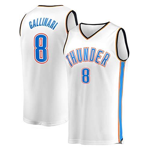 Rencai Danilo Gallinari # 8 di Pallacanestro Maschile Jersey, Oklahoma City Thunder Nuovo Tessuto Swingman Maglie Senza Maniche (Color : 3, Size : XL)