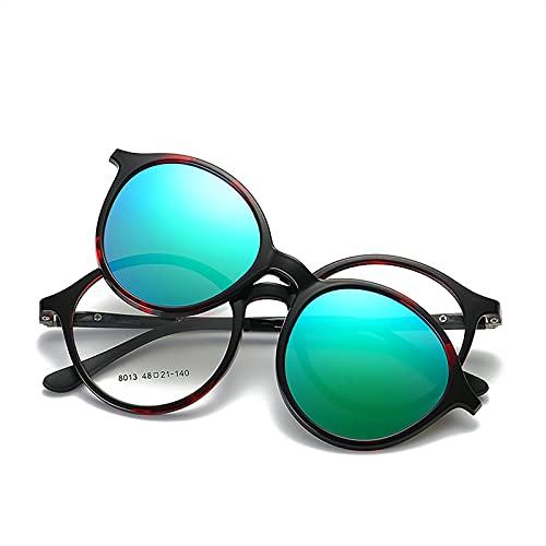 Gafas de sol Gafas de sol polarizadas Montura de gafas con clip para mujer Montura de gafas con funda magnética TR90 UV400 Anti-vértigo Visión diurna y nocturna Regalos para hombres mujeres