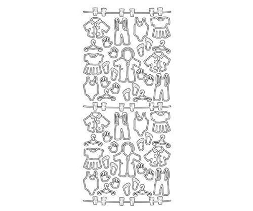 Die Konturen der 10x23 - Baby-Kleidung St Blau, Clip-Art, Kunst Scrapbooking, Zubehör, Dekoration, Contour, Aufkleber, Kunst Liefert, Jeje