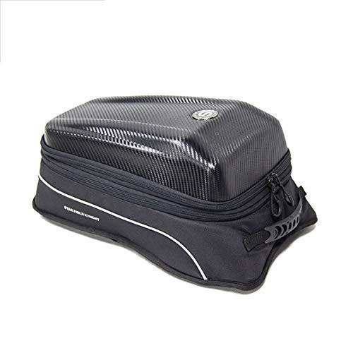 DOLA wasserdichte Motorrad-Rücksitztasche, Multifunktionale Helmtasche Reitrucksack Mit Reflektierendem Streifen Für Outdoor-Wanderungen Radfahren