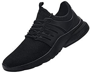 DYKHMILY Waterproof Safety Shoes for Men Women Steel Toe Cap Trainers Lightweight Breathable Puncture Proof Work Trainers (Origin Black,8 UK)