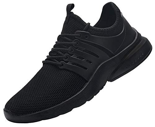 DYKHMILY Zapatillas de Seguridad Hombre Impermeable Zapatos de Seguridad con Punta de Acero Ligeras Transpirable Botas de Seguridad (Impermeable Negro,42 EU)