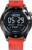 JINPX Smartwatch,Reloj Inteligente IP67 con 1.3' Pantalla Táctil Completa,Presión Arterial,Podómetro,Monitor de Sueño,8 Modos de Deportes GPS Pulsera Actividad Inteligente para Hombre Mujer (Naranja)