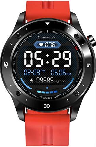 JINPX Smartwatch,Reloj Inteligente IP67 con 1.3 Pantalla Táctil Completa,Presión Arterial,Podómetro,Monitor de Sueño,8 Modos de Deportes GPS Pulsera Actividad Inteligente para Hombre Mujer (Naranja)