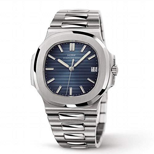 la Moda de Lujo Marca de Relojes Masculinos Reloj Nautilus de Todos Los Hombres de Acero,F,Un tamaño