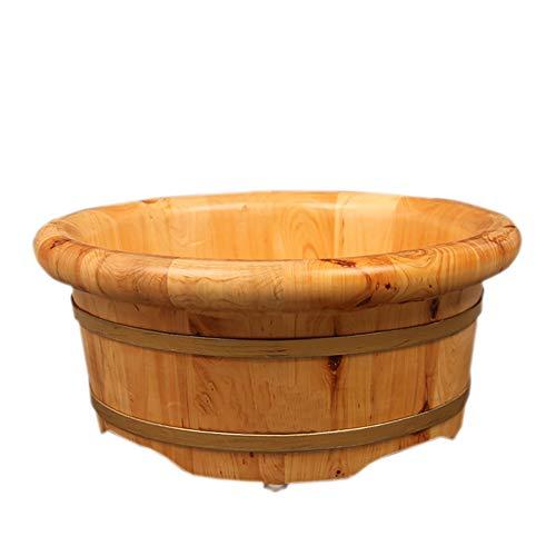 Waschbecken, kleines Waschbecken aus Massivholz, Spülbecken, bequemes Naturholz, Einweichen Eimer Fußbad, Verdickung Haushalt Waschtisch SCBJB Modern Größe Woodcolor