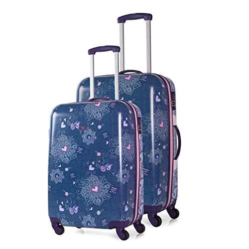 SKPA T - Set 2 trolleys policarbonato Happy Love Day, Color Azul