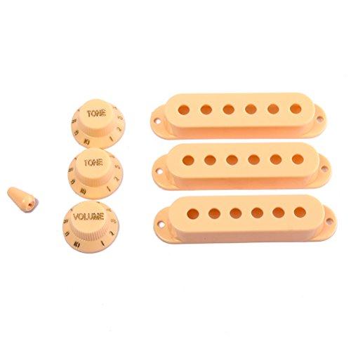 Fender Stratocaster - Juego de accesorios de repuesto para guitarra, color amarillo