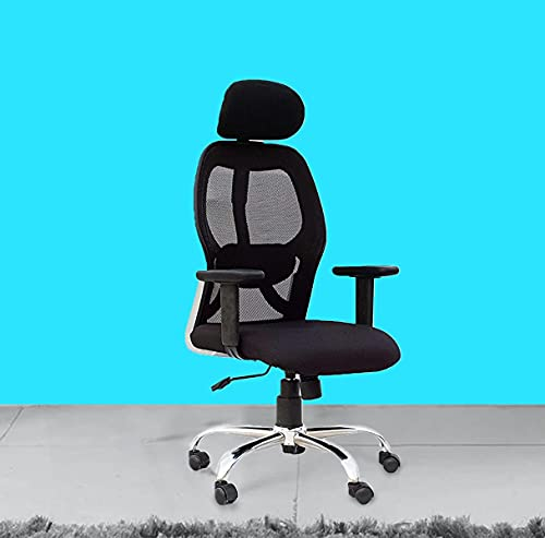 Casa Copenhagen, Collection 77- Ergonomic Premium Super Soft Desk Chair High Engineered Frame Durable and Adjustable Office Chair Modern Executive Chair with Armrests Lumbar Support - Black YY02