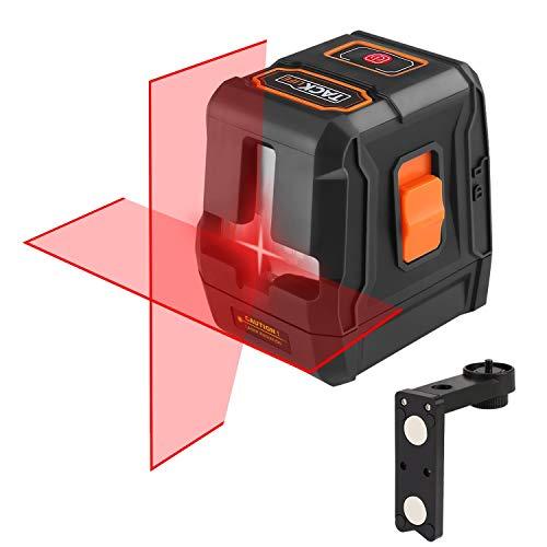 Tacklife SC-L07 Selbstnivellierender Kreuzlinien-Laser, 15 m, automatischer Linienlaser 110 ° horizontal/vertikal, IP54, 35 m mit Laser-Empfänger, magnetischer Halterung
