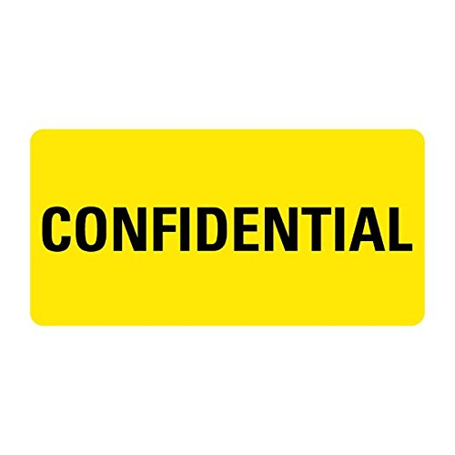 Confidential Medical Records Labels LV-MRL4
