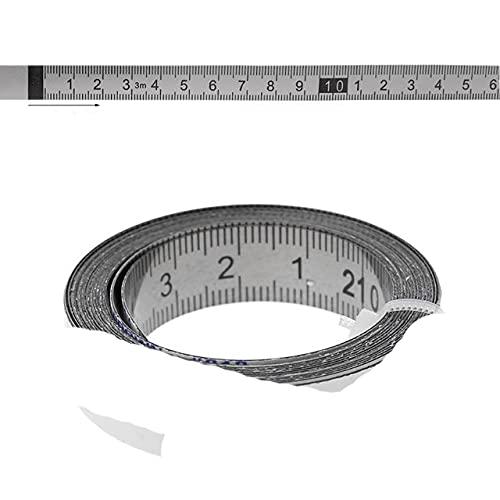 Cinta métrica de acero inoxidable, autoadhesiva, métrica, escala 1M-3M, para sierra de mesa en T, herramienta de carpintería, de izquierda a derecha, 2 m