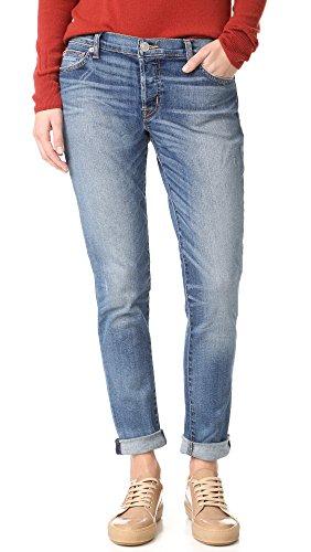 Hudson Jeans Women's Riley Relaxed Straight 5 Pocket Jeans, Disharmony, 25