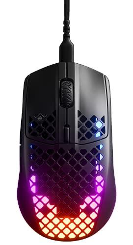 SteelSeries Aerox 3 - Mouse da Gioco Leggero, Sensore Ottico TrueMove Core da 8.500 CPI, Design Leggero e Resistente all'Acqua, Nero