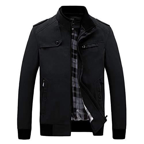 Zarupeng Herren Arbeitsjacke, Winter Casual Langarm Reißverschluss Jacke Dünne Militär Jacket Sweatjacke mit Stehkragen Top