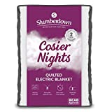 Slumberdown Cosier Nights Quilted Electric Blanket with Twin Controls & 3 Heat Settings
