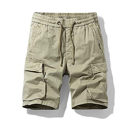 Pantalones Cortos Deportivos versátiles Informales de Verano para Hombre para Entrenar, Correr y ejercitarse 30