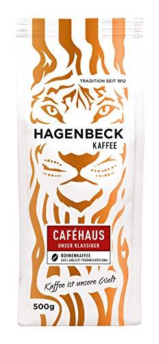 Hagenbeck - Kaffee - Cafehaus - Röstkaffee - ganze Kaffeebohnen - 500g - 100% Arabica - Aromatisch - Bekömmlich