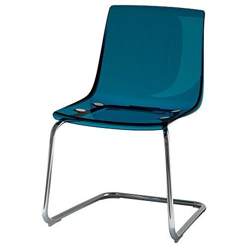 IKEA TOBIAS–Stuhl, blau/verchromt