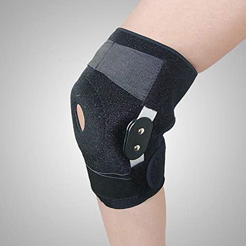 Compression Knee Brace Support Adjustable Knee Sleeve for Men Women Best Protective Knee Support for Running, Basketball, Weightlifting, Gym Open Patella Stabilizer Protector to Relieve Pain