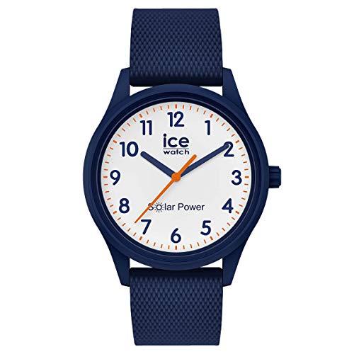 Ice-Watch - Ice Solar Power Blue Mesh - Montre Bleue Mixte avec Bracelet en Silicone - 018480 (Small)