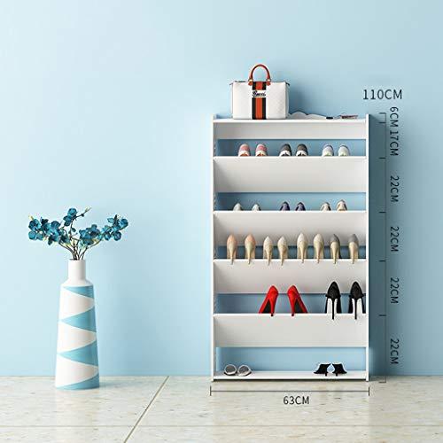 XBCDX Zapatero Simple Ensamblaje Multicapa Estante multifunción Almacenamiento de Zapatos a Prueba de Polvo Torre de Zapatos Estantes apilables (Color: 110cm)