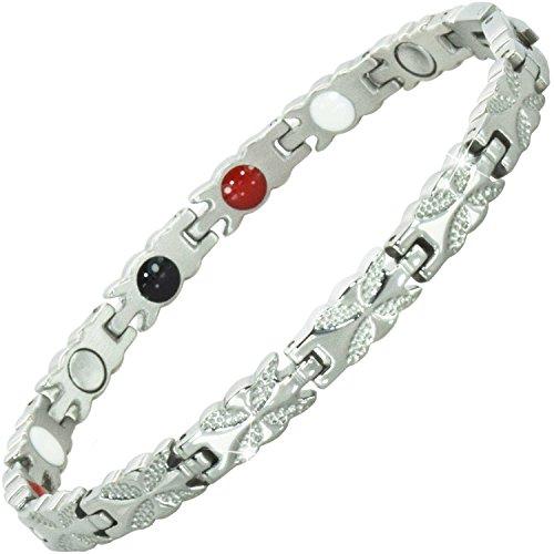 Damen Magnetisch bracelets-all sizes-negative Ion Armband Balance Armband Arthritis Schmerzen bei Karpaltunnelsyndrom Sehnenscheidenentzündung Tennis Handgelenk Gesundheit bracelet-bfs 17 cm / 6.7 in
