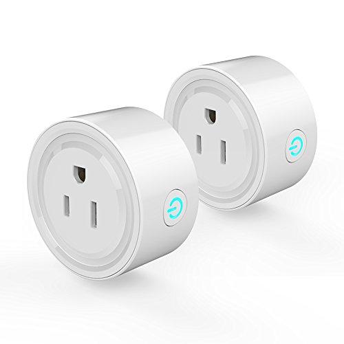 Entweg WLAN-Buchse, 2-teiliger WiFi-Stecker Wi-Fi-fähige Mini-Sockel-App Tragbare automatische Timer-Buchse mit...