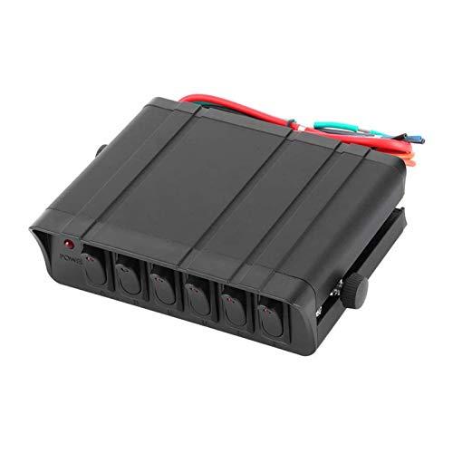 MEI 12 V DC 80 A Caja de interruptor basculante de 6 bandas 3 pines rojo azul luz LED para Jeep Automotive Car Marine Boat Rocker Switch instalación es simple y el modelo es adecuado