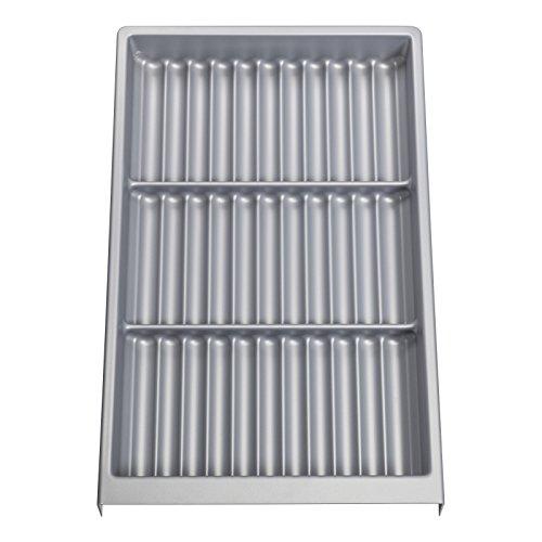 ORGA-BOX® V Gewürzgläsereinsatz Schubladeneinsatz Dosenhalter / 302 x 52 x 473 mm/Silbergrau genarbt ab 40er Korpusbreite