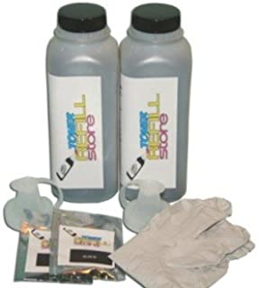 Toner Refill Store ™ 2 Pack Black Toner Refill Kit with reset chips for the Dell 1815 1815dn 310-7945 310-7943 PF658
