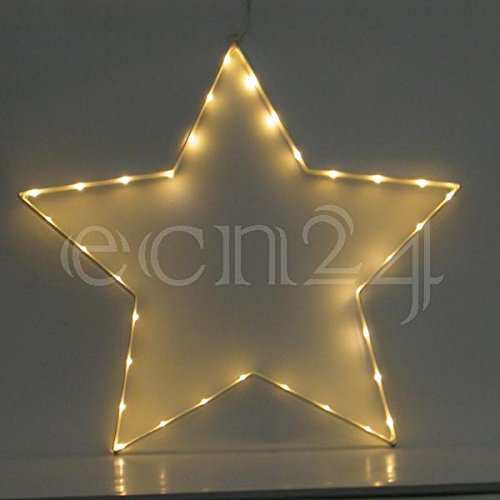 Best Season SA000024, LED-Silhouette Stern, Metall, silber, 1 x 50 x 52 cm