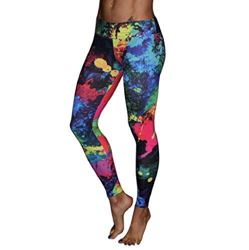 Pantalones deportivos Sannysis Mujer Pantalones deportivos de running colorful (01, M)