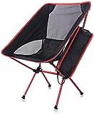Outdoorstuhl Faltbarer Campingstuhl Ultraleicht klappbar Faltstuhl Aluminium kompakt tragbar Angelstuhl für Wandern Outdoor bis 120kg