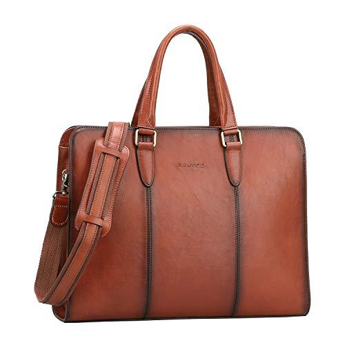 Banuce Full Grains Italian Leather Briefcase for Women Handbags Attache Case 14 Inch Laptop Business Bags Satchel Purses Ladies Work Bag