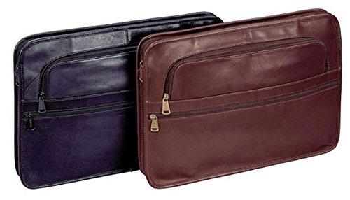 Leather Underarm Portfolio Color: Brown, Material: Top Grain