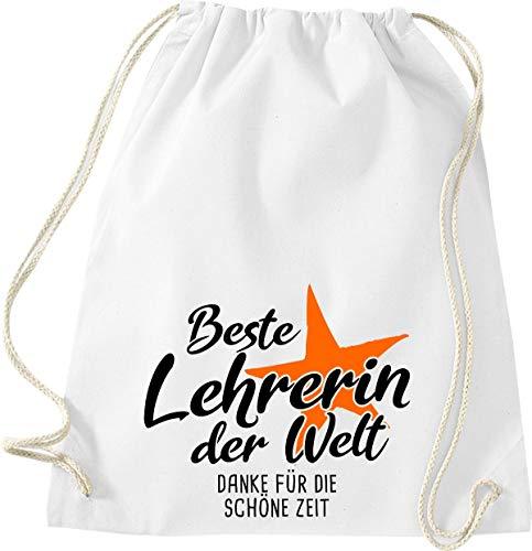 Shirtinstyle Sport, Meilleure Maîtresse Le Monde Merci pour la Belle Temps Gym Sac Sac - Blanc