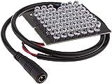N/W 940nm infrarrojo 48 LED Array Board IR Illuminator con rango IR de hasta 30m Para todo tipo de módulos de cámara Potencia DC 12V
