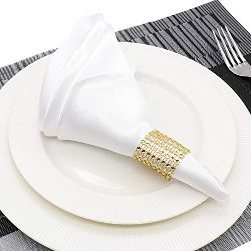 Fijnere 25 stks vierkante satijnen servet 30 cm zakdoek doek voor bruiloft decoratie event party hotel thuis leveringen, wit