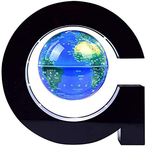 ZSMLB World globe decoration 4 Inch LEDGlobe with LED Light,Blue Magnetic Globe Floating Light for Children