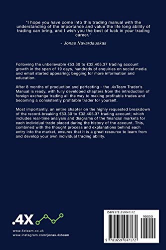 41765iVvHcL - The .4x Trader's Manual: THE MANDATORY GUIDE TO SUCCESSFUL FOREIGN EXCHANGE TRADING
