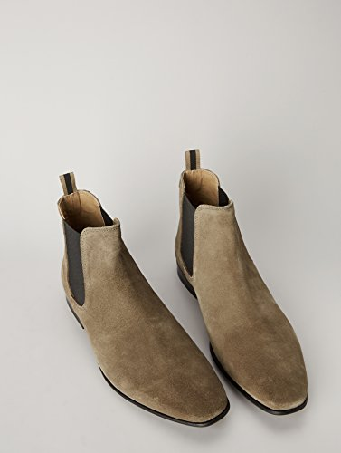 FIND Herren Chelsea Boots Rauleder, Braun (Stone) - 4