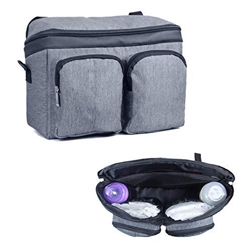 Adminitto88 Kinderwagen Organizer Kinderwagentasche Tragbare Mamatasche Mit Großer Kapazität Regenschirm Auto Aufbewahrungstasche Wird Als Universelle Handgepäcktasche Grau Verwendet