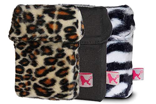 smokeshirt Big XL versch. 3er Sets Angebot. Designer Zigaretten-etui Zigaretten-Box Hülle für Zigarettenschachteln (23-25 Zig.) 3 zum Preis für 2 (Leo, Zebra, Dark Black)