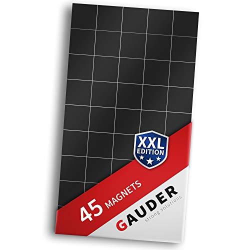 GAUDER Magnetplättchen selbstklebend extra groß | Magnetstreifen | Magnetische Plättchen für Fotos, Postkarten & Schilder