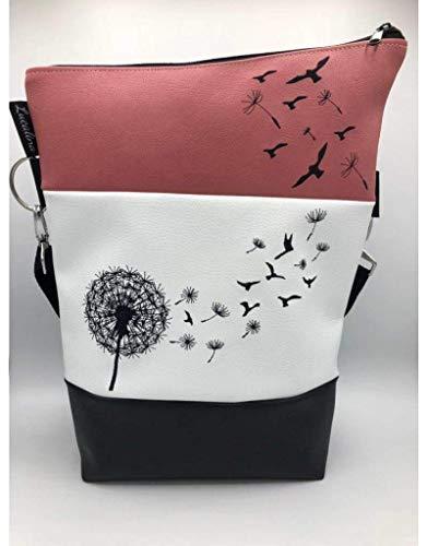 Handtasche Pusteblume mit Vögel Tasche Foldover Schultertasche