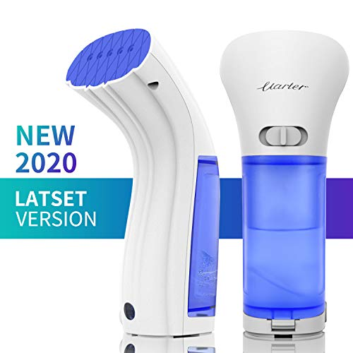 Uarter Portable Garment Steamer for Clothes, Mini Travel Handheld Steamer, 20s Fast Heat-Up, Powerful Steam Fabric Wrinkle Remover with 360°Anti-Leak, Professional Clothing Steamer for Any Fabrics